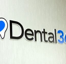 Dental365 Logo on the wall
