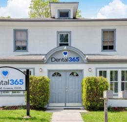 Exterior shot of the front of a Dental365 location in Westchester County